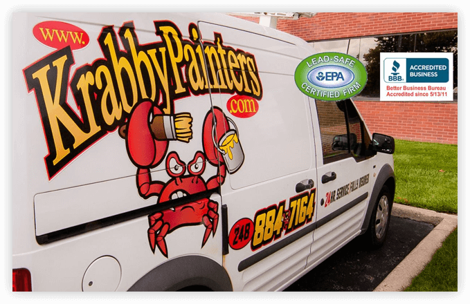 Krabby Painters, Inc., Commerce Township, MI for 24 hour painting service